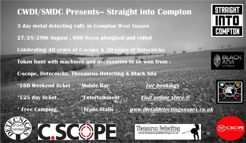 west, sussex, c-scope, detecnicks, compton, august